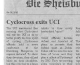 UCI and Cyclocross Split?