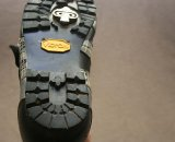 The sole looks more like a hiking boot's than a typical cycling shoe ©Josh Liberles