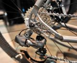 Shimano Ultegra groupset and a classy engraved E on the Engin frame. NAHBS 2013 © Jesse Pisel