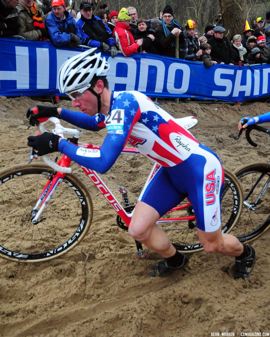 Jeremy Powers in sand at Koksijde Worlds © Dean Warren