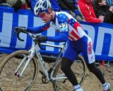 Jonathan Page up hill at Koksijde Cyclocross Worlds © Dean Warren