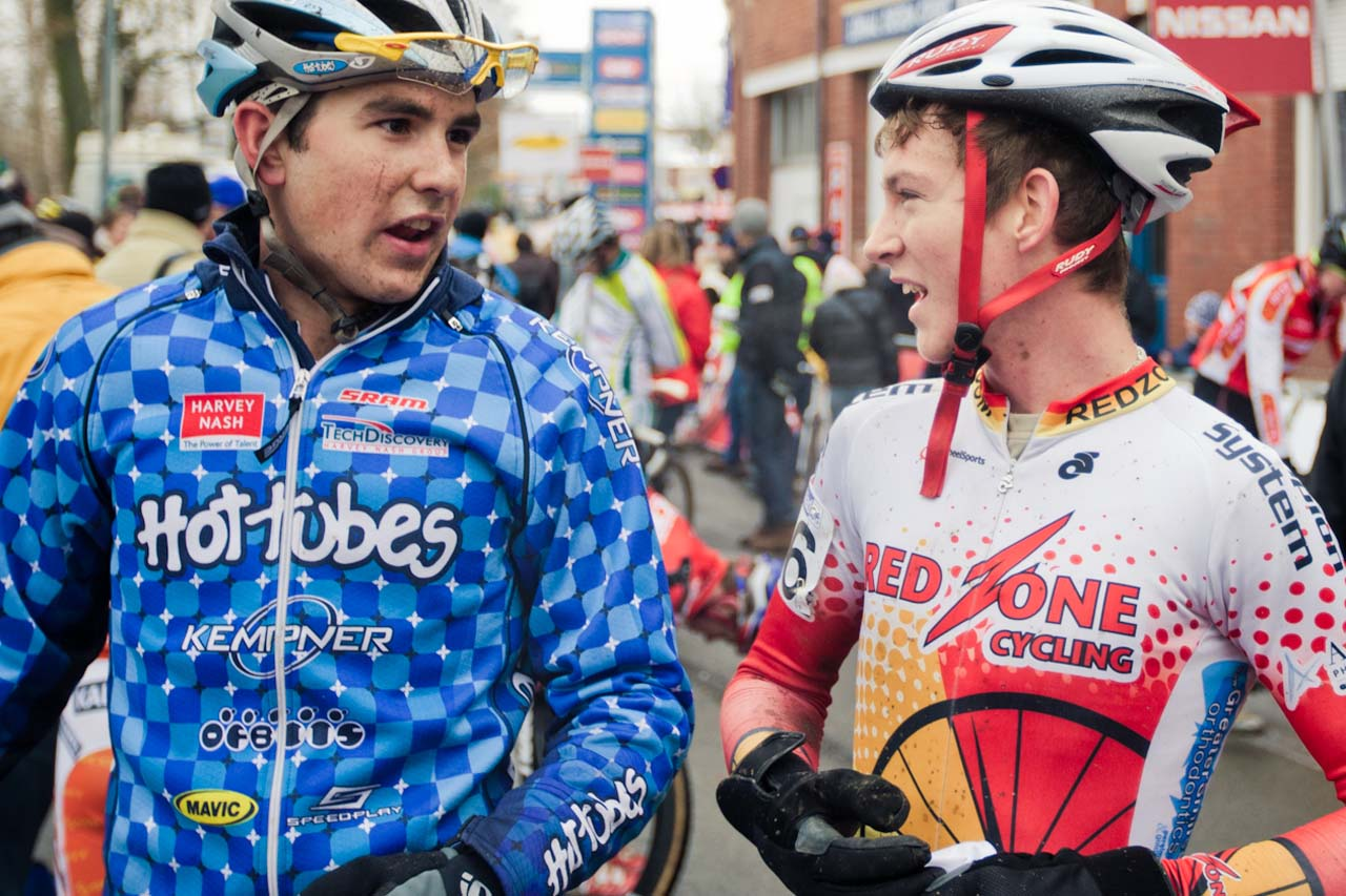 Yannick Eckmann and Andrew Dillman at the finish ©Tom Robertson