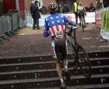 Danny Summerhill attacks the stairs in Diegem. ? Bart Hazen