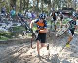 Myrah led the BASP Men's A race at Coyote Point and did all he could to keep team HRS/Rock Lobster at bay. ? Cyclocross Magazine