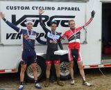 The men's podium at Downeast. © Cyclocross Magazine