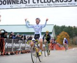Myerson crossed the line ahead of McNicholas and Lindine © Natalia Boltukhova   Pedal Power Photography