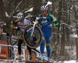 Van Kessel (l) and Huenders would battle through the mid-point of the race before Van Kessel broke free. ? Bart Hazen