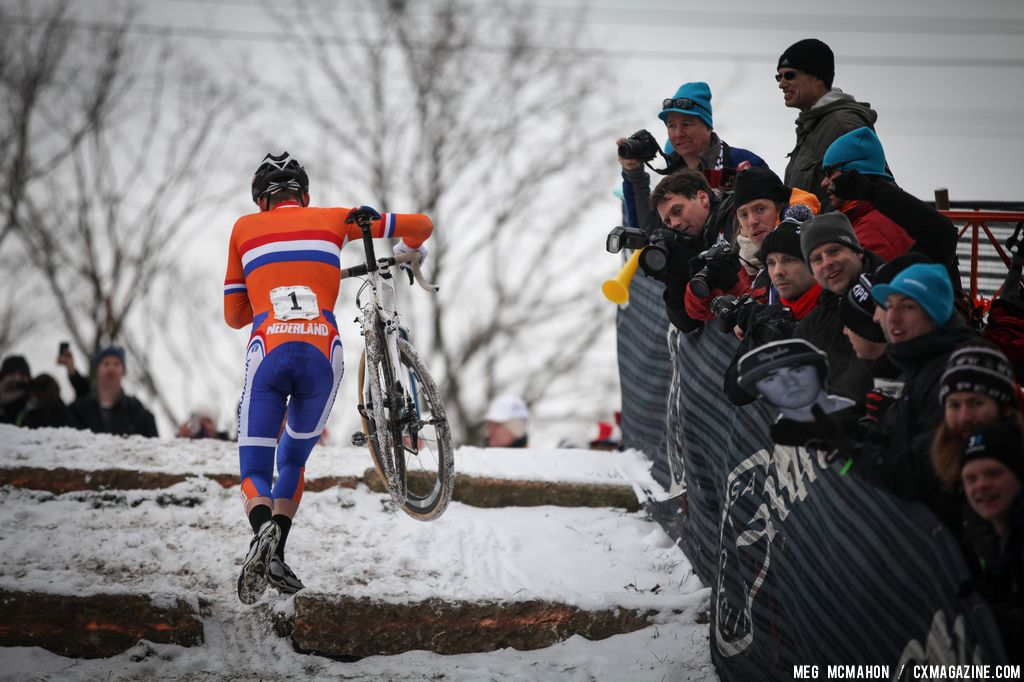 The unstoppable van der Poel in the Elite Junior World Championships of Cyclocross 2013 © Meg McMahon