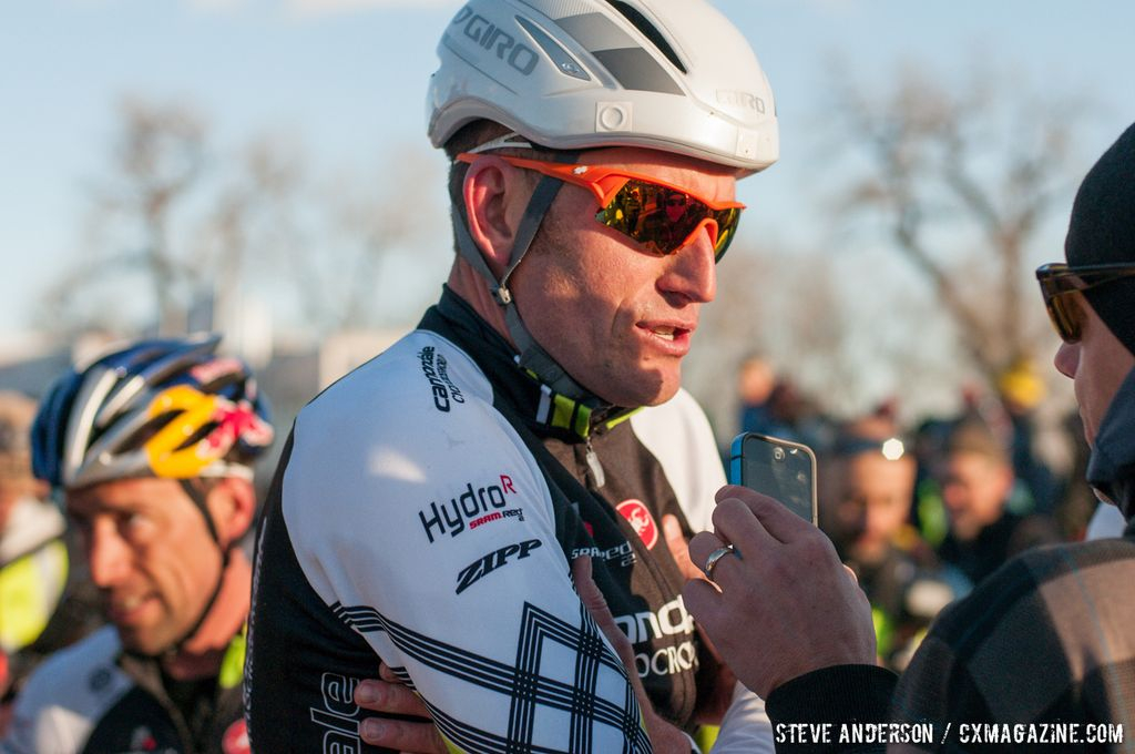 Ryan Trebon pre-race at Elite Men 2014 USA Cyclocross Nationals. © Steve Anderson