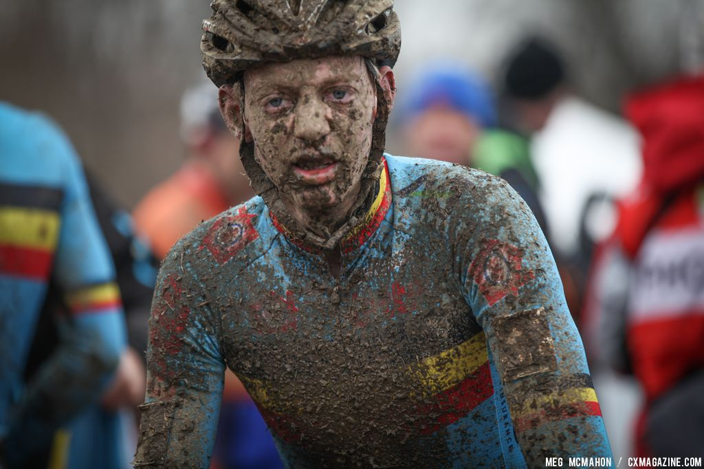 Muddy and tired in the Elite U23 World Championships of Cyclocross 2013 © Meg McMahon