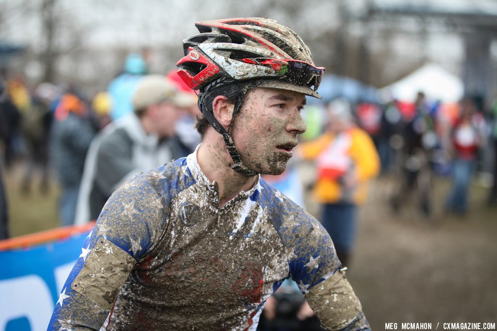 Exhausted American racer after the Elite U23 World Championships of Cyclocross 2013 © Meg McMahon