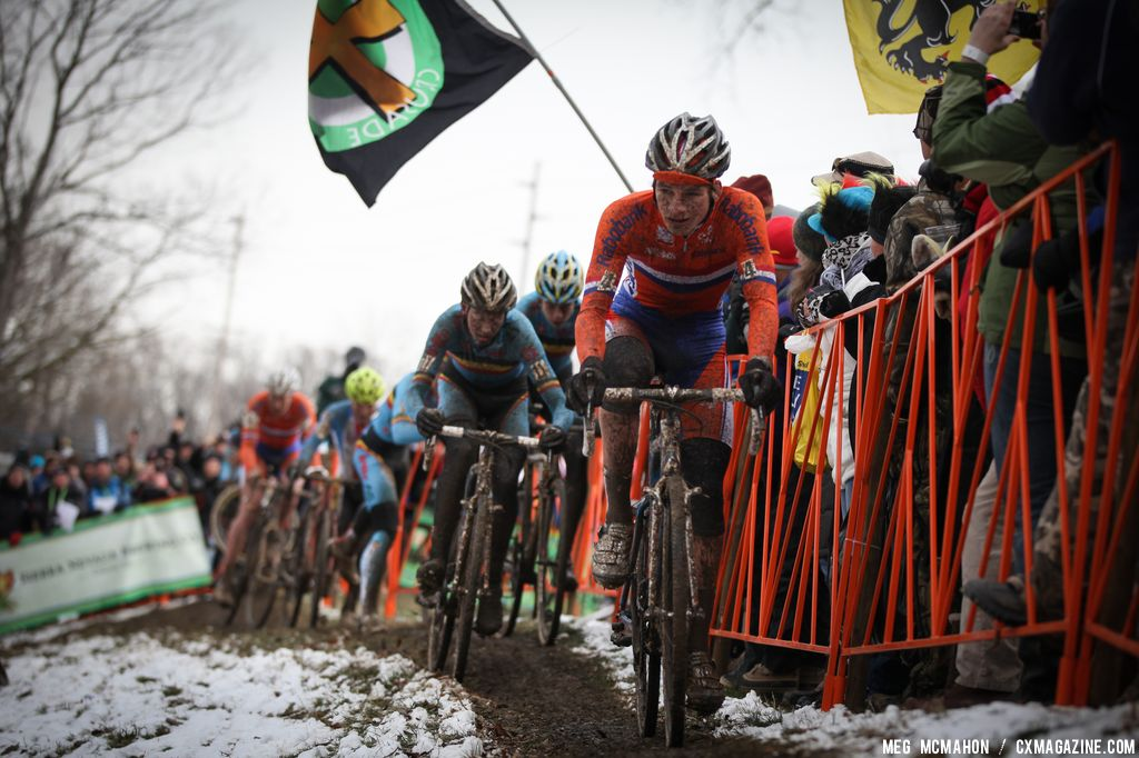 David van der Poel in the Elite U23 World Championships of Cyclocross 2013 © Meg McMahon