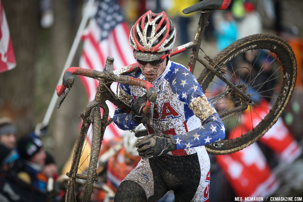 Josh Johnson in the Elite U23 World Championships of Cyclocross 2013 © Meg McMahon