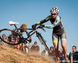 Out of control at Elite Women 2014 USA Cyclocross Nationals. © Steve Anderson