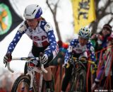 Antonneau leads Dombroski in the Elite Women World Championships of Cyclocross 2013 © Meg McMahon