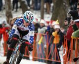 Compton's race face as she goes for second in the Elite Women World Championships of Cyclocross 2013 © Meg McMahon