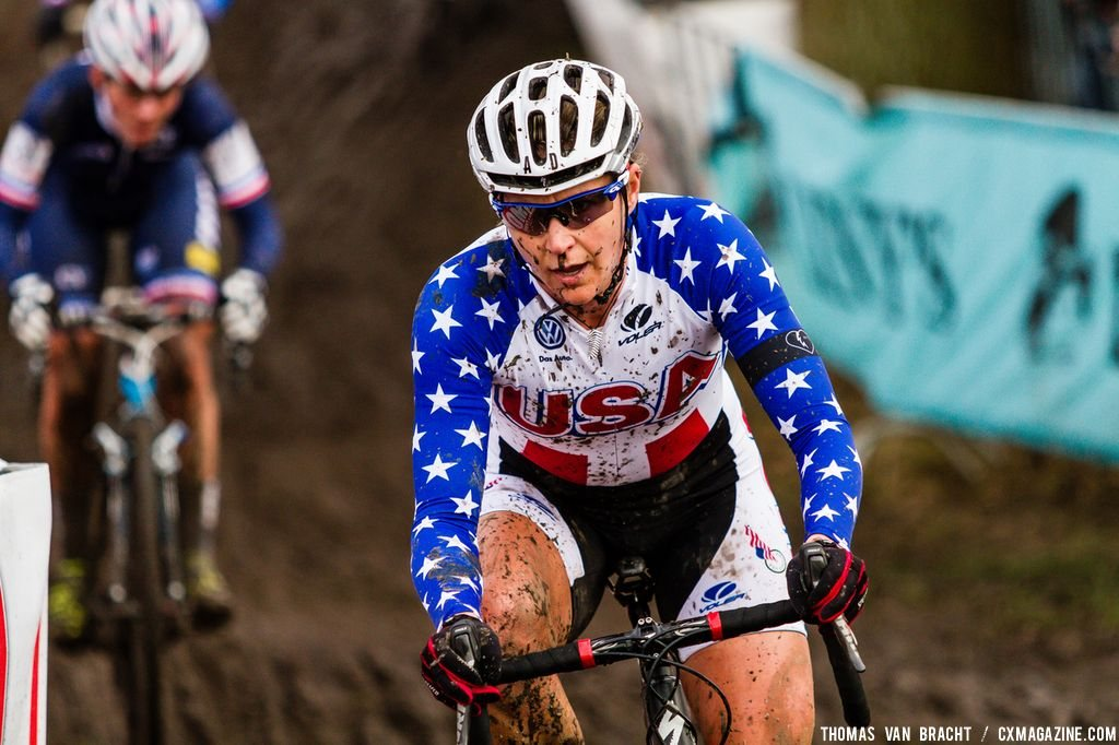 Meredith Miller at Elite Women UCI Cyclocross World Championships. © Thomas Van Bracht