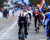 Heading to the start at Elite Women UCI Cyclocross World Championships. © Thomas Van Bracht