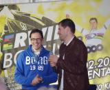 Vervecken with his new Golazo Sports boss Christophe Impens, who also set up the Erwin Bolt Uit event. ? Jonas Bruffaerts