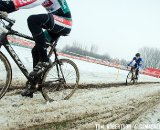 The snow added yet another challenge to Belgian racing. © Tom Robertson