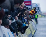 There's nothing like a finish in Belgium, with thousands banging on the barriers at the finish line