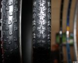 Hutchinson was on the scene with two new rubber offerings for 'cross. The Piranha 2 CX (right) is for fast and dry terrain, and features a 127tpi casing for increased comfort and puncture resistance. The Toro CX (left) is a tubeless tire made for rutted and muddy courses. © Jeff Lockwood
