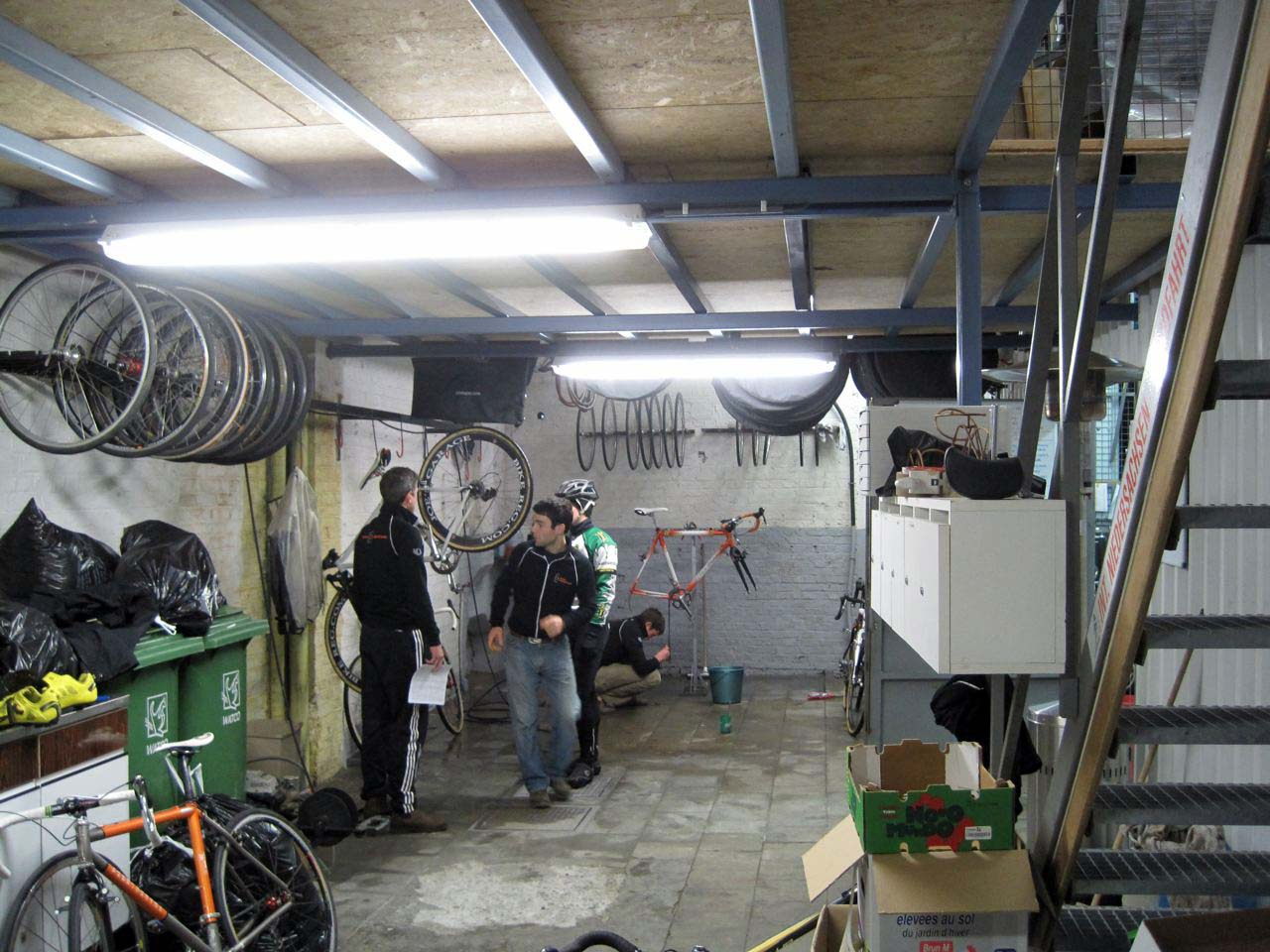 Can you smell the tubular glue? Here\'s one area to work on the bikes. ? Nathan Phillips