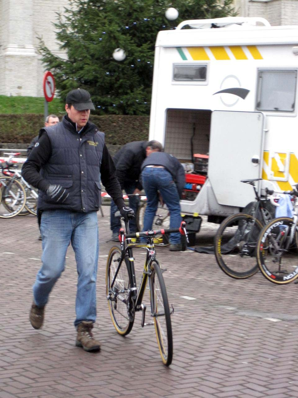 Euro Cross Camp staff member Brecht Hannon at Azencross in Loenhout. ? Nathan Phillips