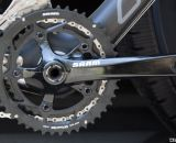 A SRAM S550 alloy crank is Felt's attempt to keep the cost down and durability up. © Cyclocross Magazine