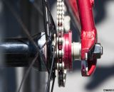 Novatec's 16t cog rests on Felt's singlespeed hub on the Felt 2014 Breed Singlespeed Cyclocross Bike. © Cyclocross Magazine