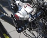 Superlight ASHIMA rotors paired with Avid BB5 brakes on the Felt 2014 F5x carbon cyclocross bike. © Cyclocross Magazine
