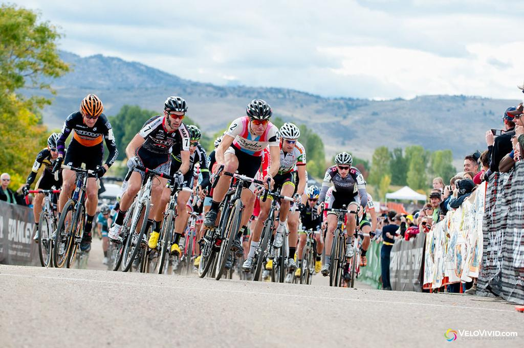 Jeremy Powers (Rapha-Focus) takes the holeshot! © VeloVivid Cycling Photography