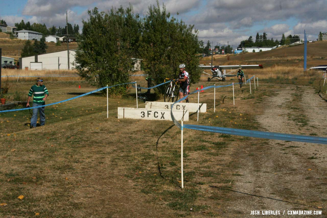 Planks plus planes equals Sky Ranch cyclocross. ©Cyclocross Magazine