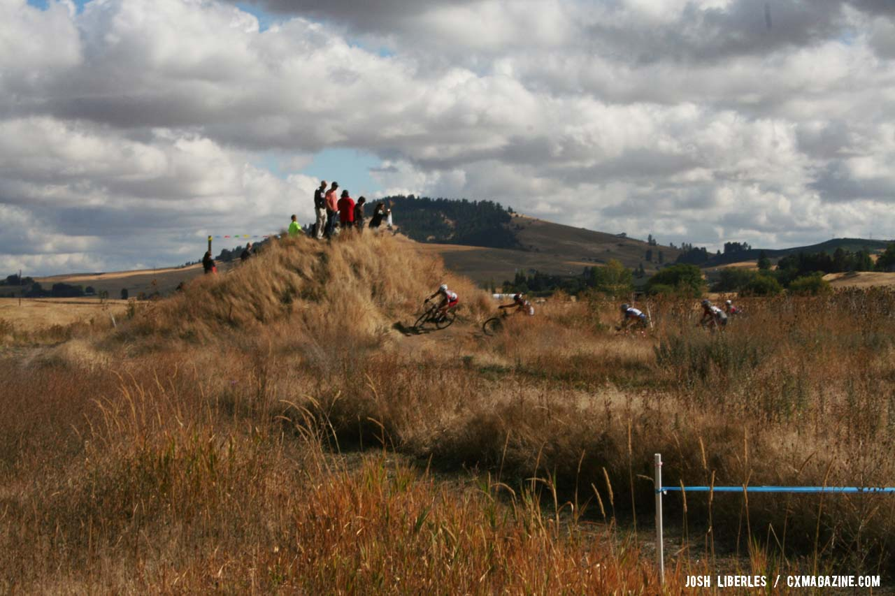 The junkyard section is full of short track-style bermed turns. ©Cyclocross Magazine