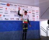 Trebon on the podium. © Grant Berry