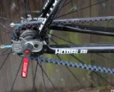 Close up of the rear hub on the Raleigh carbon singlespeed cyclocross bike. © Cyclocross Magazine