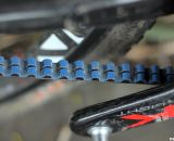 The belt features a narrow channel that splits the teeth into two sections. © Cyclocross Magazine