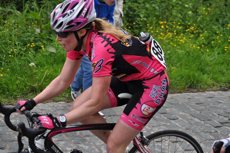 Genevieve taking a climb. Photo courtesy of Genevieve Whitson