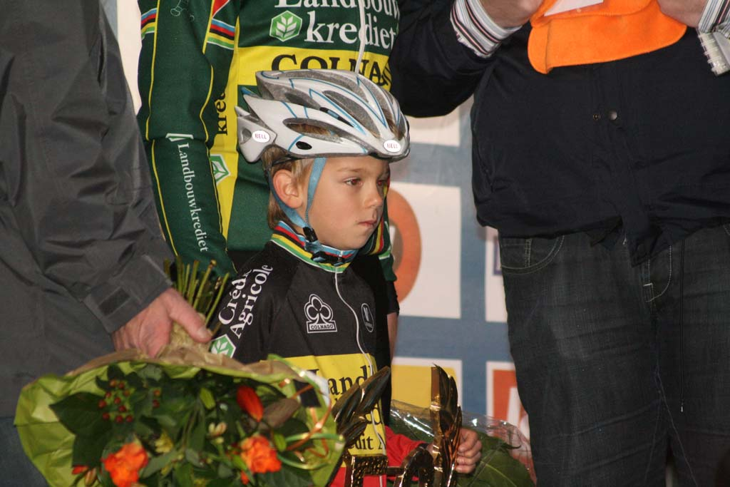 Nys shared the podium with his son. ? Bart Hazen