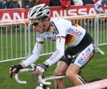 Phillip Walsleben shows off his German champion's colors. ? Bart Hazen