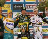 Pauwels (l), Nys and Albert on the podium at Gieten. ? Bart Hazen