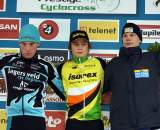 Teunissen (l), Van der Poel and Dolfsma on the podium. ? Bart Hazen