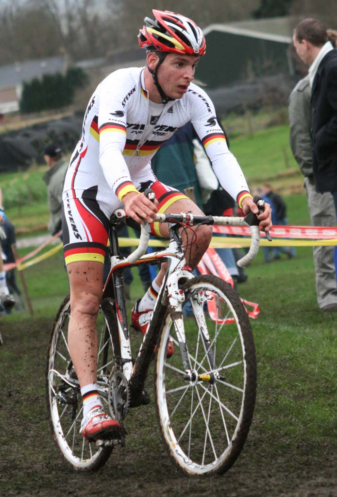 German Champion, Marcel Meisen, struggled today.  ? Bart Hazen