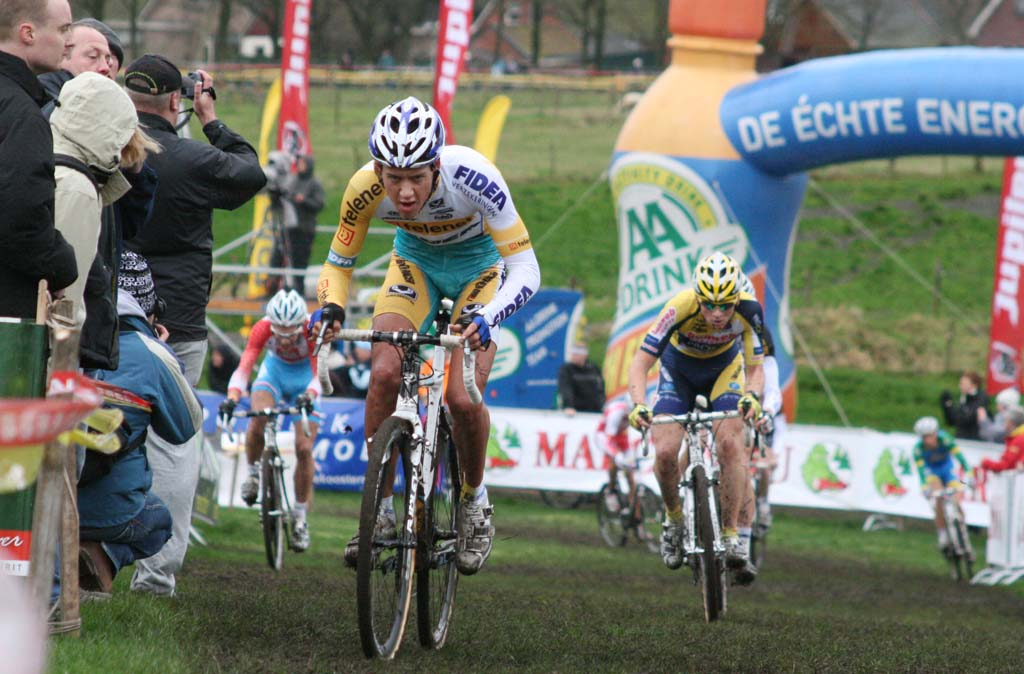Tom Meeusen took control on the second lap and made it a hard day for everyone. ? Bart Hazen