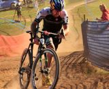 Tim Johnson (Cannondale p/b Cyclocrossworld.com) digging deep into the pain cave during the final lap. © Kevin White