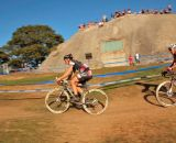 Jeremy Powers ( Rapha FOCUS) leading Yannic Eckman (Galifornia Giant/Specialized) past a popular spectator spot. © Kevin White