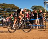 Ryan Trebon (Cannondale p/b Cyclocrossworld.com) out of the saddle. © Kevin White