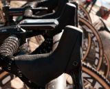 SRAM hydraulic disc brake levers were on all of the Rapha Focus team bikes. © Kevin White