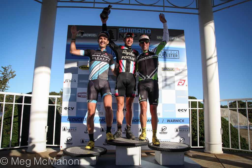 Men\'s podium at Gloucester Day 1 2013. © Meg McMahon