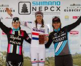 The women's podium: Duke third, Day second, and Wyman with another win © Todd Prekaski